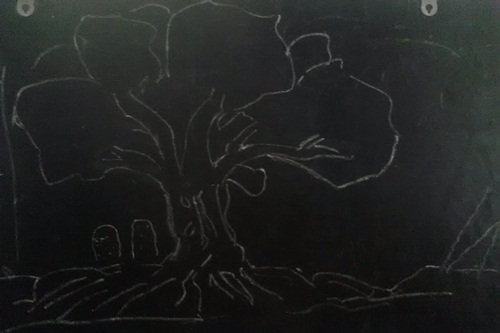 Sketched Tree in the dark