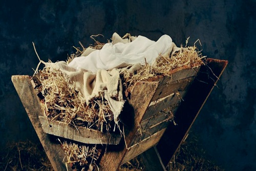 A manger: Born with a purpose