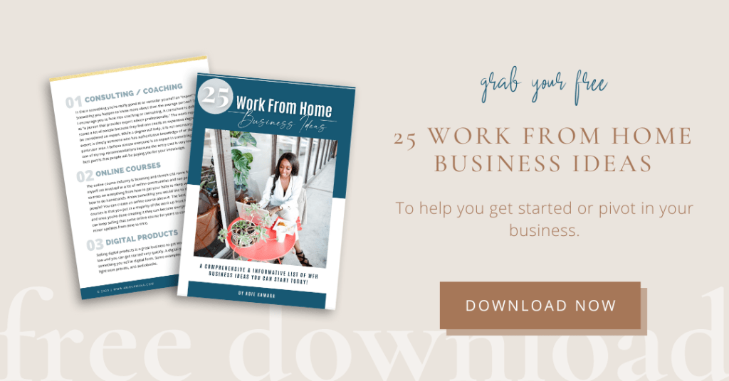 25 Home Business Ideas 2021 - Free Download
