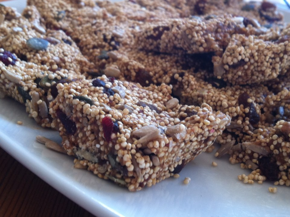 flapjack, raw, quinoa, cranberry, gluten free, dairy free, healthy flapjack, revitalise your life