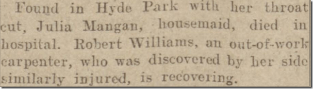 Hyde Park tragedy Exeter and Plymouth Gazette 25101928