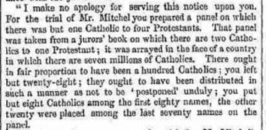 Freeman's Journal 7 December 1848