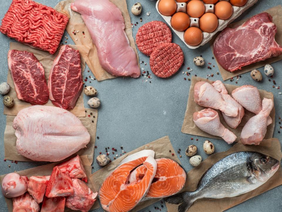 اللحوم و الدواجن و الاسماك و الكيتوجينك دايت