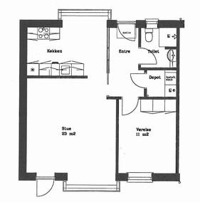 Størrelse og indretning af det lille hus