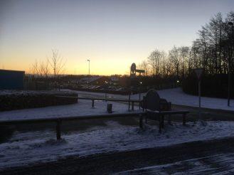 5. jan. og en smuk himmel - det er frostvejr