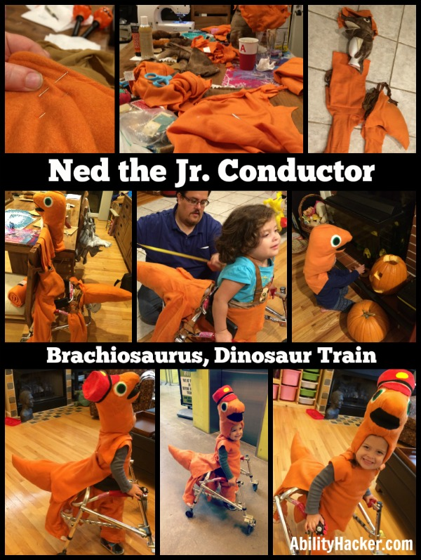 Making Halloween Costume Ned the Jr Conductor Dinosaur Train