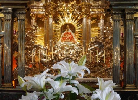 Imagem da Magna Mater Austriae, no Santuário Nacional austríaco de Mariazell