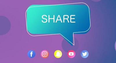 Le partage sur les réseaux sociaux