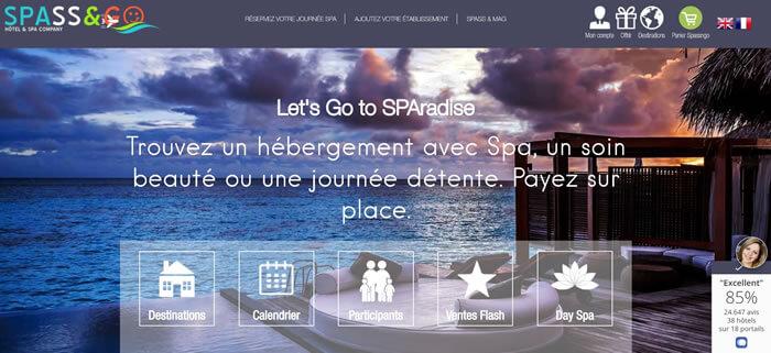 mise en page site web SPASS&GO