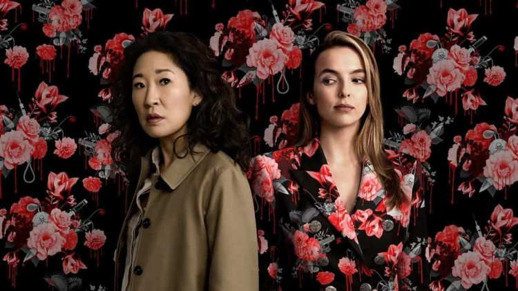 Killing Eve with Sandra Oh and Jodie Comer
