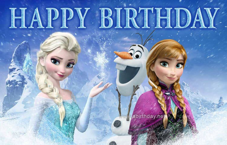 Frozen Birthday Meme