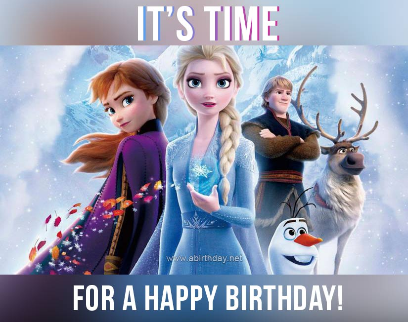 Frozen Time For a Happy Birthday