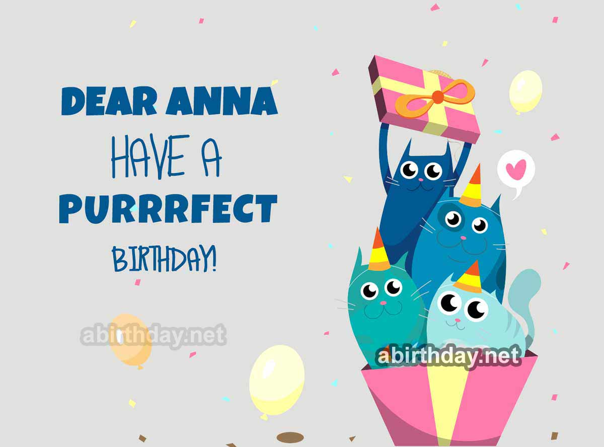 Anna Cats Birthday Meme