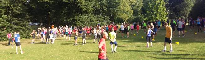 pic of crowd at start of bury st edmunds parkrun