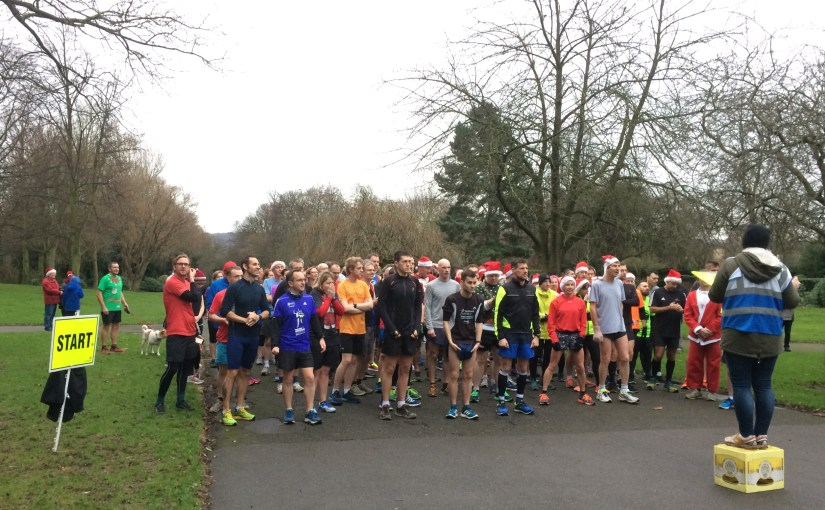 pic of start of Dewsbury Parkrun