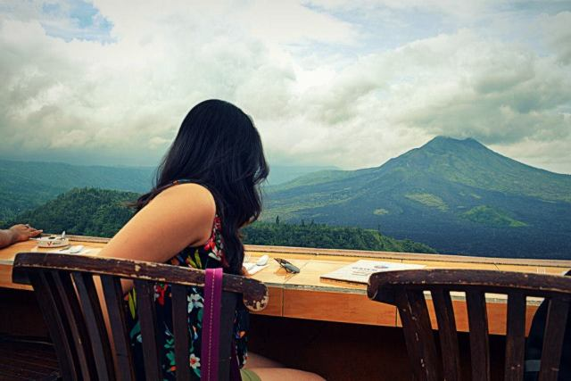 Mt. Batur at a distance