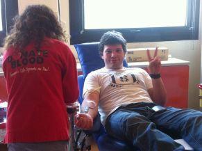 Un donatore orgoglioso di donare