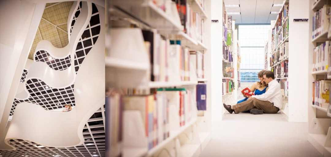 Engagement session at the Richland County Public Library