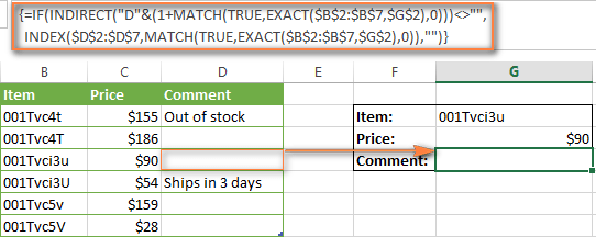 The Index Match Formula Returns Nothing If The Return