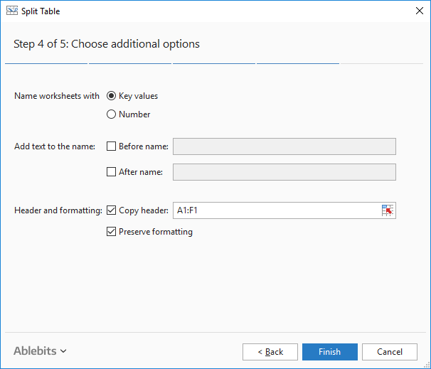 How To Split A Table Into Separate Excel Sheets With Split