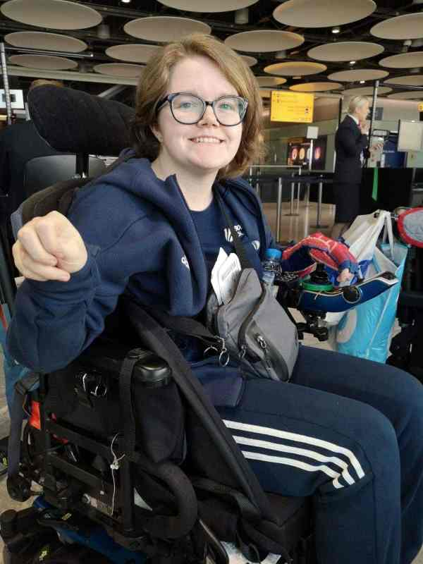 Claire - GB Boccia using easyTravelseat