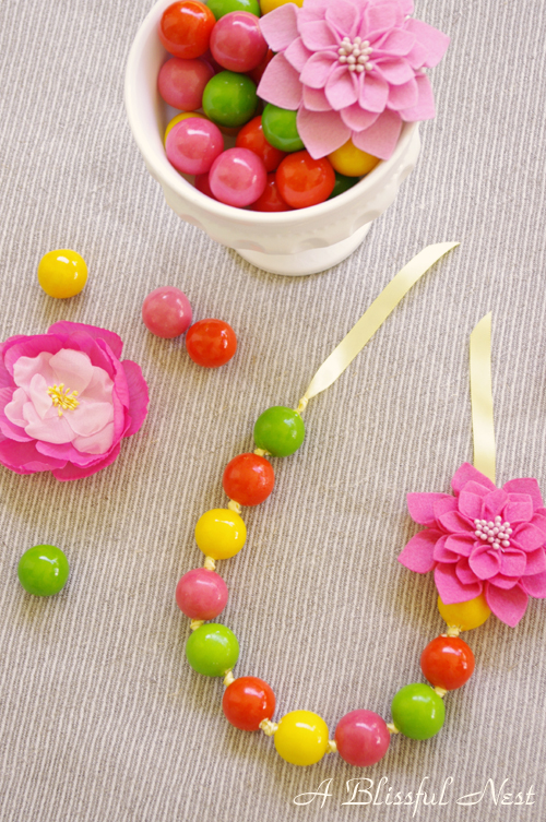 DIY Gumball Necklaces