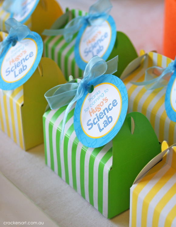 Science-themed party favors