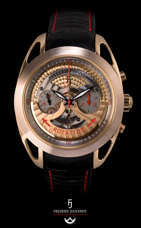 Frederic Jouvenot Automatic Chronograph Evolution Watch: Rotor On Front Watch Releases