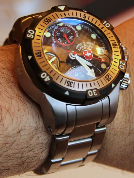 CX Swiss Military 20,000 Feet Diver Watch Review Wrist Time Reviews