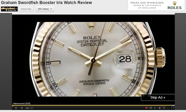 Rolex Watches Embrace YouTube Internet Advertising Watch Industry News