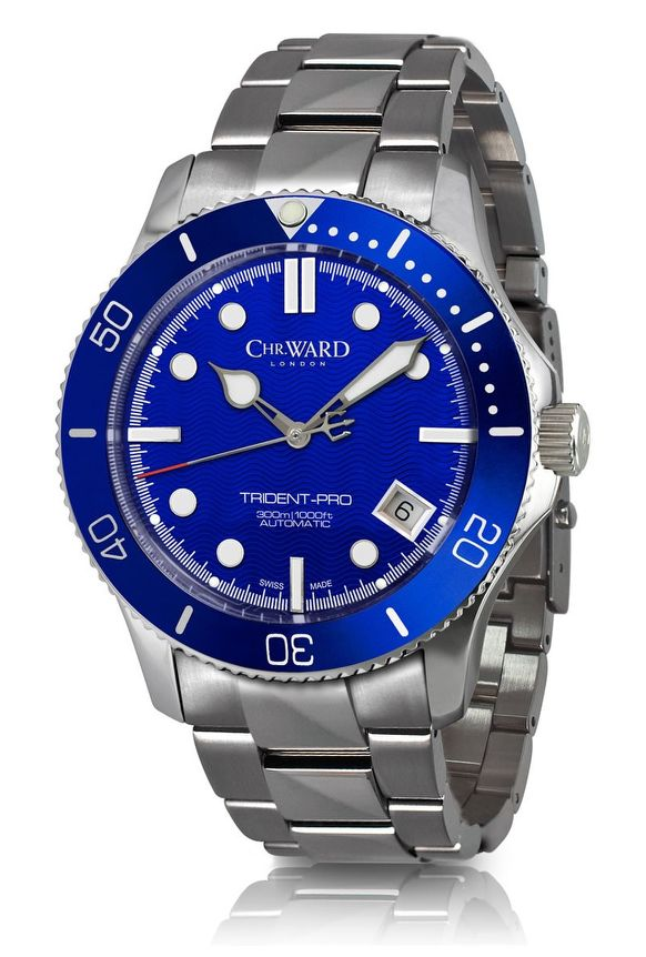 Christopher Ward 38MM Diver With The C61 Trident Watch Watch Releases