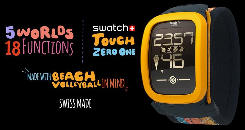 Swatch Introduces Smartwatch: Touch Zero One (Volleyball)