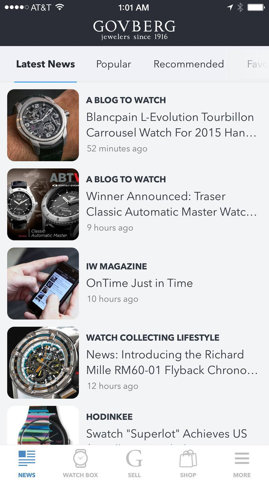 Is The Govberg 'OnTime' iPhone App The Start Of Something All Watch Collectors Need? Featured Articles