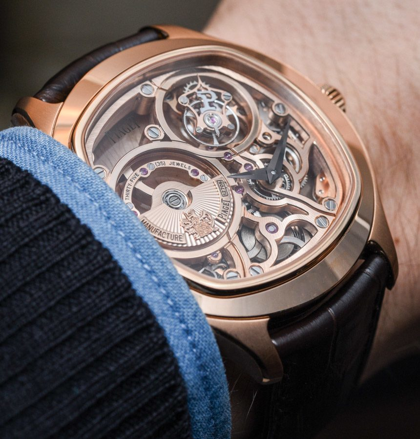 19ef5c84f43 Piaget Emperador Cushion Tourbillon Automatic Skeleton Watch For 2015  Hands-On Hands-On
