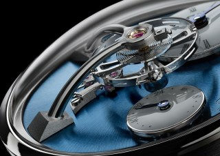 MB&F LM101 Watch Now In Platinum With Blue Dial Watch Releases