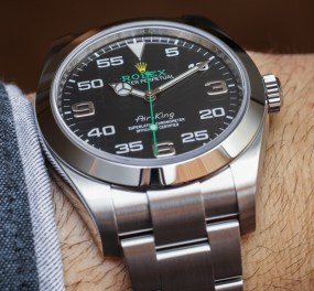 New 2016 Rolex Oyster Perpetual Air-King Watch Hands-On Hands-On