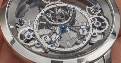 Arnold & Son Time Pyramid Translucent Back Watch Hands-On Hands-On