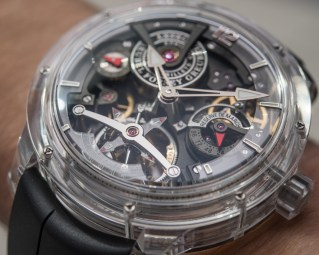Greubel Forsey Double Tourbillon Technique Sapphire Watch Hands-On Hands-On