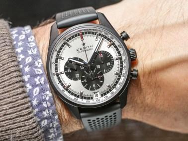 buy popular b1f52 dbf13 Zenith El Primero 36,000 VPH Black & White Watches For 2017 ...