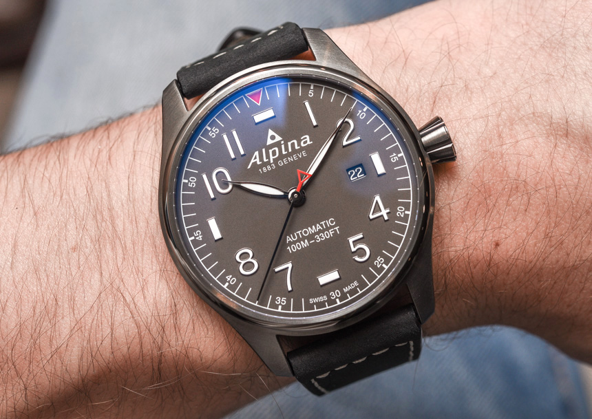 Alpina Startimer Pilot Automatic Watch For HandsOn ABlogtoWatch - Alpina startimer