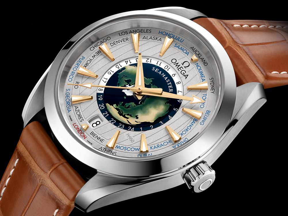 Omega seamaster aqua terra worldtimer master chronometer platinum watch hands on ablogtowatch for Aqua marine watches