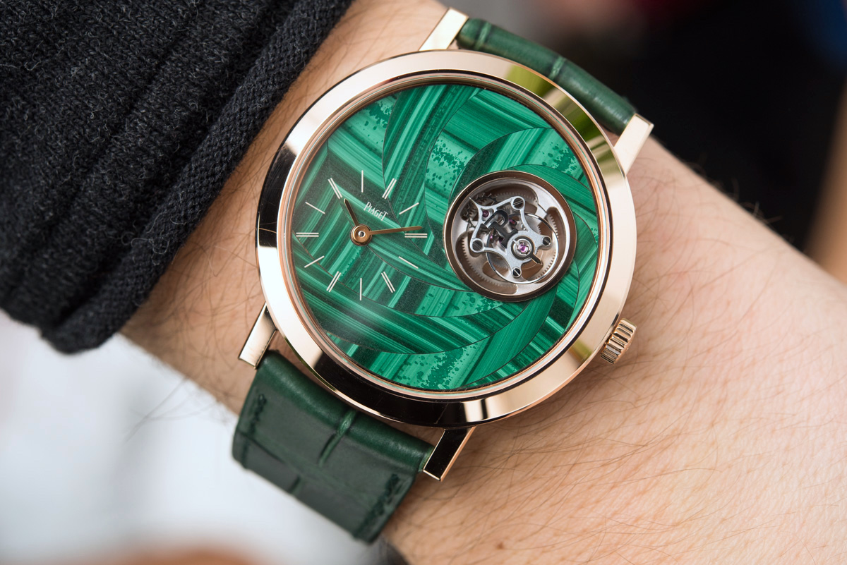 Piaget Altiplano Flying Tourbillon Stone Marquetry Dial Hands-On Hands-On