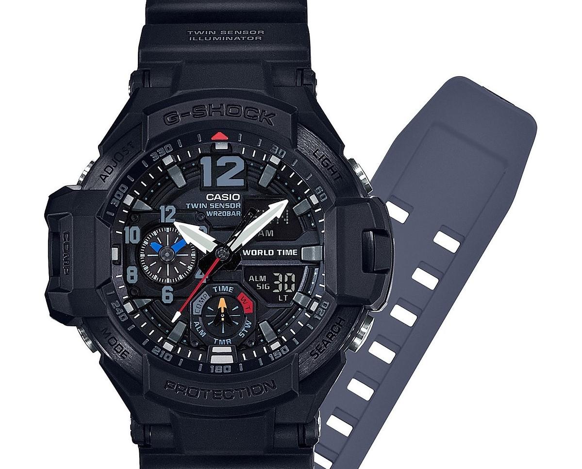 Casio G Shock Gravitymaster Ga 1100 1a1 Black Out Watch Ablogtowatch Gshock Master Stopwatch
