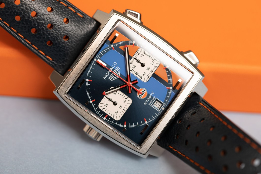 tag heuer monaco gulf special edition watch review. Black Bedroom Furniture Sets. Home Design Ideas