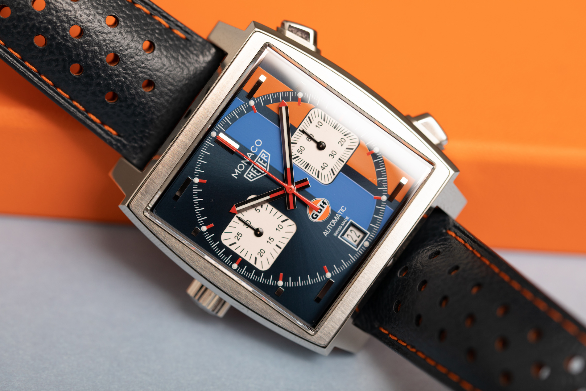 426c29a7688 The latest iteration of the TAG Heuer Monaco Gulf watch was introduced last  year to celebrate the 50th anniversary of the relationship between the  brand and ...