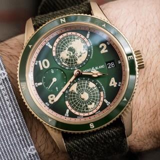 Montblanc 1858 Geosphere Green & Bronze Watch Hands-On Hands-On