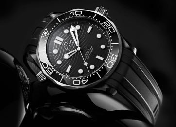 Omega Seamaster Diver 300M Watch In Black Ceramic And Titanium Watch Releases