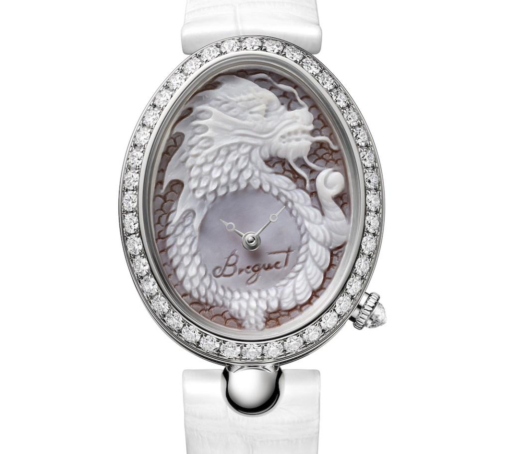 Communiqués de presse de montres du zodiaque chinois Breguet Reine de Naples 8958 Cammea