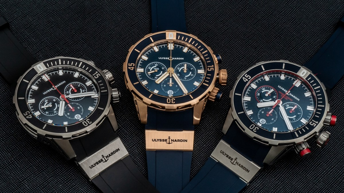 A Closer Look At Ulysse Nardin's Redesigned Diver Chronograph Collection