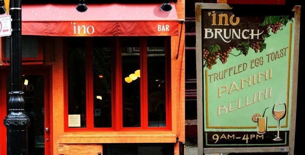 INO_013 'ino - NYC New York  Wine Vegetarian Panini New York Food
